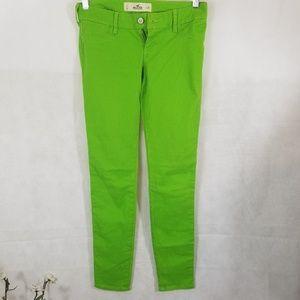 Hollister California Green Denim Jeans Waist 25
